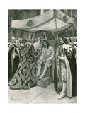 The Anointing of Charles I Giclee Print by Amedee Forestier