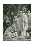 The Prostration of Harold, Son of Godwin Giclee Print by Richard Caton II Woodville