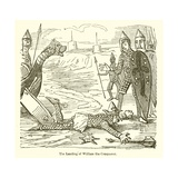 The Landing of William the Conqueror Giclee Print by John Leech
