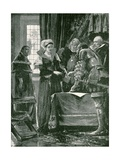 The Only Uncrowned Queen Regnant of England: Lady Jane Grey Giclee Print by Richard Caton II Woodville