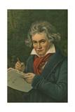 Ludwig Van Beethoven Giclee Print by Joseph Karl Stieler
