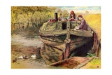 The Providence Barge Giclee Print by Myles Birket Foster