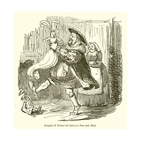 Delight of Henry at Having a Son and Heir Giclee Print by John Leech