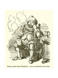 Bacon, Ye Great Moral Philosopher Giclee Print by John Leech