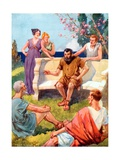 Aesop Telling His Stories Giclee Print by Archibald Webb