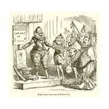 King James Disposing of Baronetcies Giclee Print by John Leech