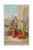 Jesus Falls for the First Time under the Weight of the Cross. the Third Station of the Cross Giclee Print