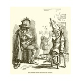 Guy Fawkes before and after the Torture Giclee Print by John Leech