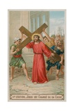 Jesus Carries His Cross. the Second Station of the Cross Giclee Print