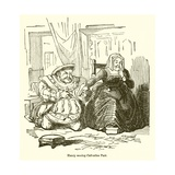 Henry Wooing Catherine Parr Giclee Print by John Leech