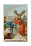 Jesus Meets His Mother. the Fourth Station of the Cross Giclee Print