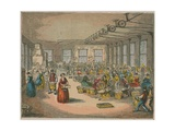 Interior View of a Textile Mill Giclee Print