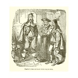 Charles I Does Not Know Which Way to Turn Giclee Print by John Leech