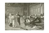 Columbus Ridiculed at the Council of Salamanca Giclee Print by Nicolo Barabino