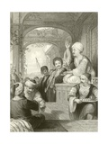 The Medak, or Eastern Story Teller Giclee Print by Thomas Allom