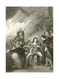 The Earl of Sandwich Refusing to Quit His Vessel While on Fire Giclee Print by Robert Smirke