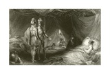 The Robber's Death Bed Giclee Print by Francis William Topham