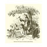 Discovery of the Laws of Gravitation by Isaac Newton Giclee Print by John Leech