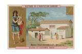 Ancient Greek House and Costume Giclee Print