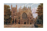 Exeter Cathedral. West Front Giclee Print by Alfred Robert Quinton