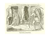 Time Bowling Out the Druids Giclee Print by John Leech