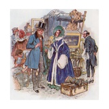Great Expectations, Estella Arrives in Cheapside by Coach from Rochester Giclee Print by Charles Edmund Brock