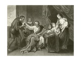 Alfred Dividing the Loaf Giclee Print by Benjamin West