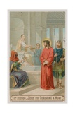 Jesus Is Condemned to Death. the First Station of the Cross Giclee Print