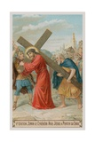 Simon of Cyrene Helps Jesus to Carry the Cross. the Fifth Station of the Cross Giclee Print