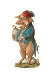 Pig with Stash of Money Giclée-Druck von German School