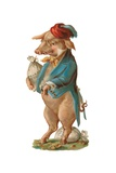 Pig with Stash of Money Giclee Print by German School