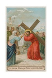 Veronica Wipes the Face of Jesus. the Sixth Station of the Cross Giclee Print