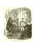 One of the Protector's Tea Parties Giclee Print by John Leech