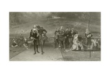 Edward II and Piers Gaveston Giclee Print by Marcus Stone