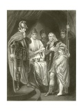Balliol Surrendering His Crown to Edward I Giclee Print by John Opie