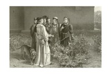 The Rival Roses Giclee Print by John Pettie