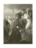 St Augustine before Ethelbert Giclee Print by Henry Tresham