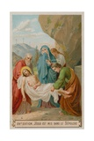 Jesus Is Laid in the Tomb. the Fourteenth Station of the Cross Giclee Print