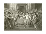 Oliver Cromwell Dissolving the Long Parliament Giclee Print by Benjamin West