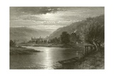 Tintern Abbey - Moonlight on the Wye Giclee Print by Benjamin Williams Leader