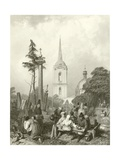 Cemetery of the Smolensko Church Giclee Print by Alfred Gomersal Vickers