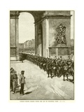 German Troops Passing under the Arc De Triomphe, Paris Giclee Print