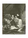 Charles Edward (The Pretender) and Flora Macdonald Giclee Print by Hippolyte Delaroche