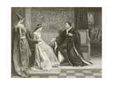 The Wooing of King Henry V Giclee Print by William Frederick Yeames