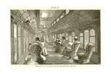 Interior of a Pullman Car on the Midland Railway Giclee Print