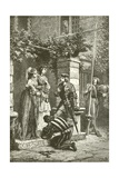 Bayard Taking Leave of the Ladies of Brescia Giclee Print by Alphonse Marie de Neuville