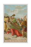 Jesus Falls for the Second Time. the Seventh Station of the Cross Giclee Print