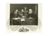 Luther, Melancthon, Pomeranus and Cruciger Giclee Print by Pierre Antoine Labouchere