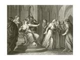 The Empress Matilda Refusing to Release King Stephen Giclee Print by John Francis Rigaud