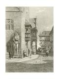 Town Hall, Halberstadt Giclee Print by Carl Friedrich Heinrich Werner